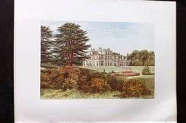 Morris Seats 1860's Antique Print. Eden Hall